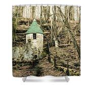 Spring Castle - Rock Island Park Tn Art 585 Shower Curtain