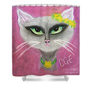Spring Cat Shower Curtain