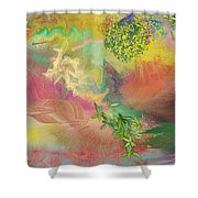 Spring Chaos Shower Curtain