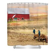 Spring Chores Shower Curtain