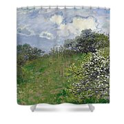 Spring Shower Curtain by Claude Monet