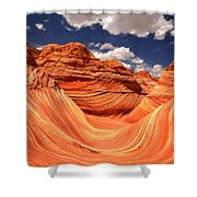 Spring Clouds Over The Wave Shower Curtain