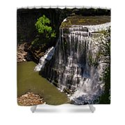 Spring Color At Burgess Lower Falls Shower Curtain