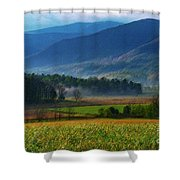 Spring Colors In Caves Cove Shower Curtain