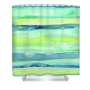Spring Colors Pattern Horizontal Stripes Shower Curtain