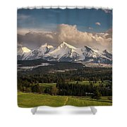 Spring Comes To The High Tatra Mountains In Poland Shower Curtain