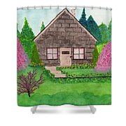 Spring Cottage Shower Curtain
