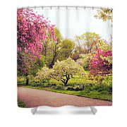 Spring Crescendo Shower Curtain