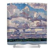 Spring Cumulus Shower Curtain