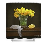 Spring Daffodil Flowers Shower Curtain