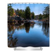 Spring Day On The River Shower Curtain