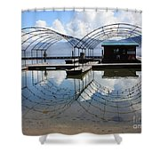 Spring Docks On Priest Lake Shower Curtain