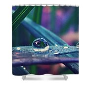 Spring Droplet Shower Curtain