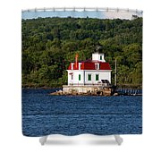 Spring Evening At Esopus Lighthouse Shower Curtain