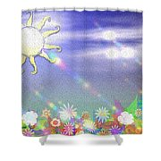 Spring Exp.2 Shower Curtain