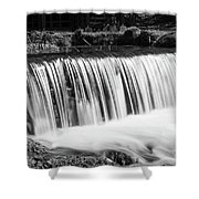 Spring Falls At Hodgson Grayscale Shower Curtain