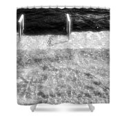 Spring Flood Bw Shower Curtain