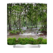 Spring Floodwaters. Altai Shower Curtain