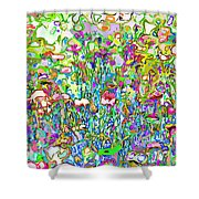 Spring Flower Bed Shower Curtain