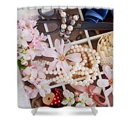 Spring Flowers Box Shower Curtain