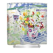 Spring Flowers On The Island Shower Curtain