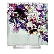 Spring Flowers With Fritillaria  Shower Curtain