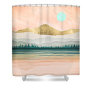 Spring Forest Lake Shower Curtain
