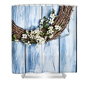 Spring Garland Shower Curtain