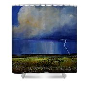 Spring Green Pastures  Shower Curtain