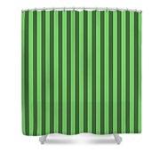 Spring Green Striped Pattern Design Shower Curtain