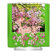 Spring Greeting With Poem Shower Curtain