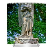 Spring Grove Angel Statue Shower Curtain