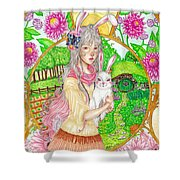 Spring Hare Shower Curtain