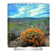 Spring Hilltop View Shower Curtain