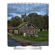 Spring House And Abbey Shower Curtain