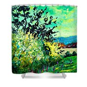 spring in Ciergnon Shower Curtain