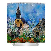 Spring In Foy Notre Dame Dinant Shower Curtain