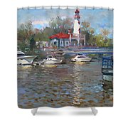 Spring In Lake Shore Shower Curtain