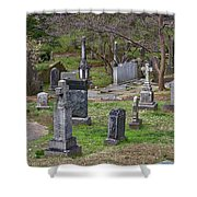 Spring In Oak Hill Cemetery #4 Shower Curtain