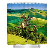 Spring In The Field 1 Shower Curtain
