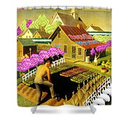 Spring In Townville Shower Curtain