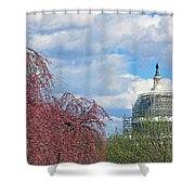 Spring In Washington And Dressed In Scaffolding Shower Curtain
