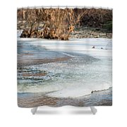 Spring Is Coming. The Ice Melts. Shower Curtain