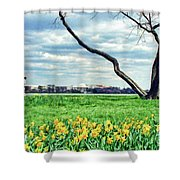 Spring Jog On The Potomac Shower Curtain