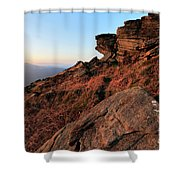 Spring Landscape, Gritstone Rock Formations, Stanage Edge Shower Curtain