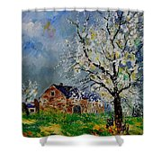 Spring Landscape Shower Curtain