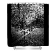 Spring Leaves B/w Shower Curtain