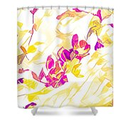 Spring Light Abstract Shower Curtain