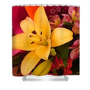 Spring Lily Bouquet Shower Curtain