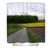 Spring Lines Shower Curtain